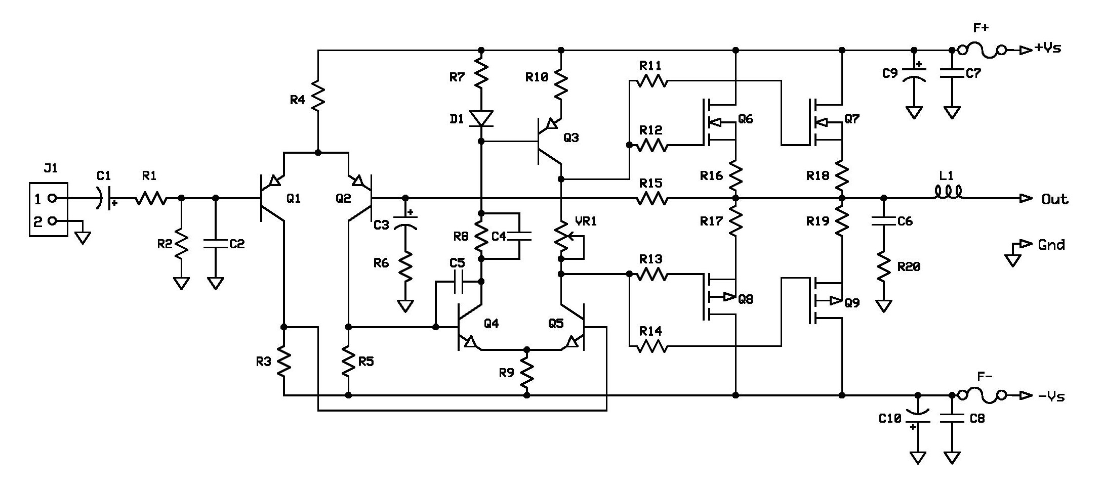 project 5 \u2013 buildaudioampsmpa1 100w mosfet schematic diagram page 001 schematic diagram of 100w mosfet power amplifier project