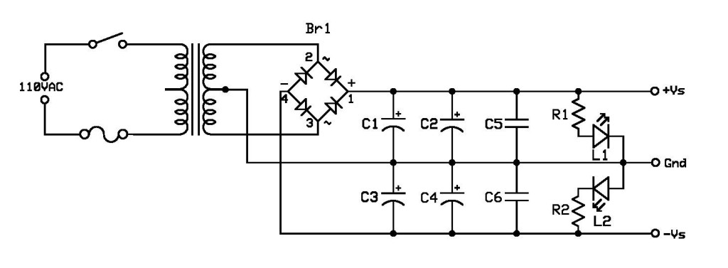 power supply project-schematic