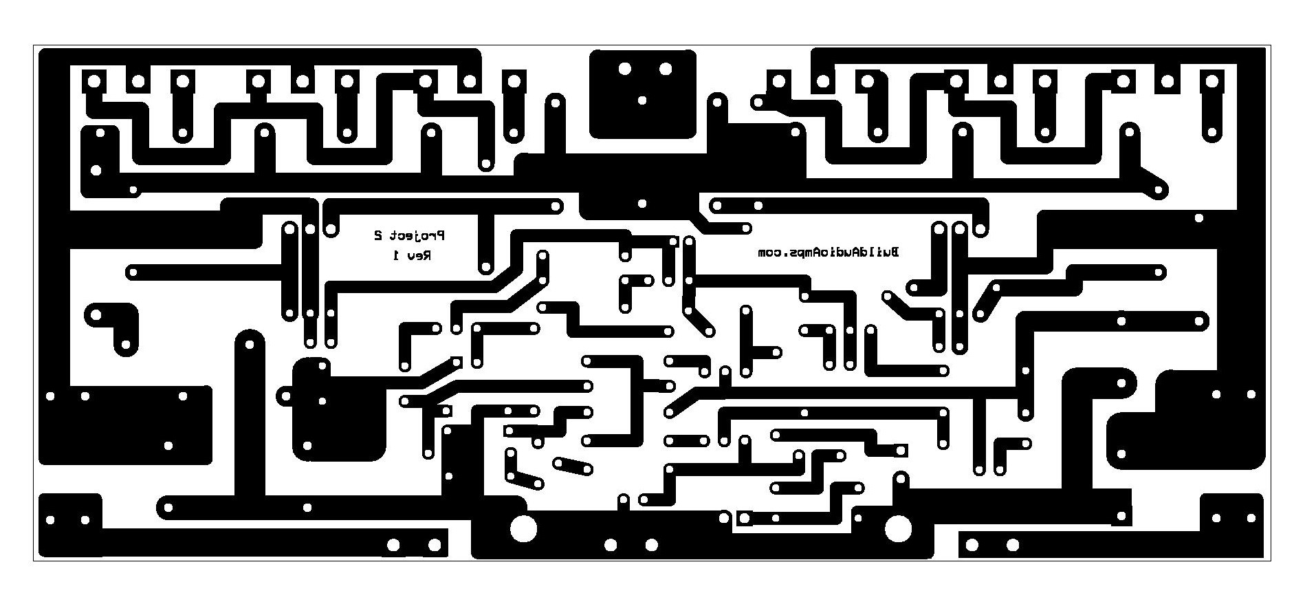 Project 2 Buildaudioamps Amplifier Circuit Diagram Projects Project2 Bottom Copper Layer Page 001