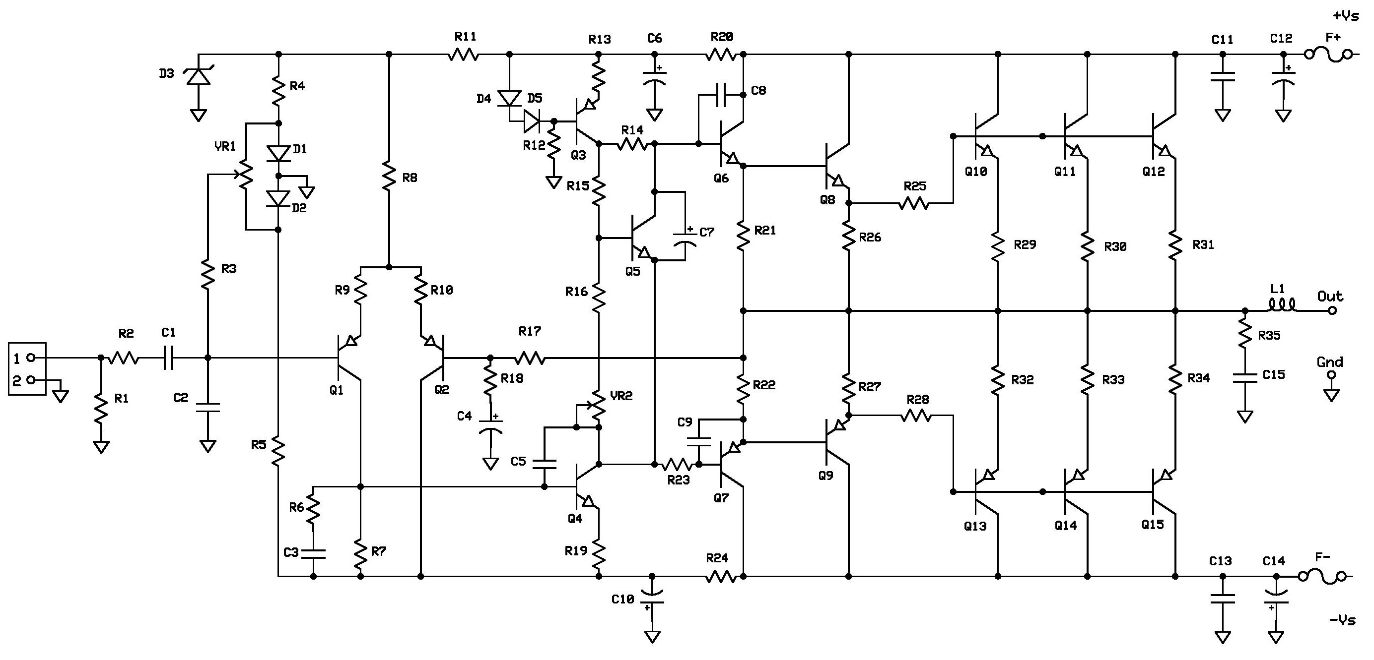 Amplifier Circuit Diagram Projects Radio Wiring 1000w Power Images Project 2 Buildaudioamps Rh Com Audio