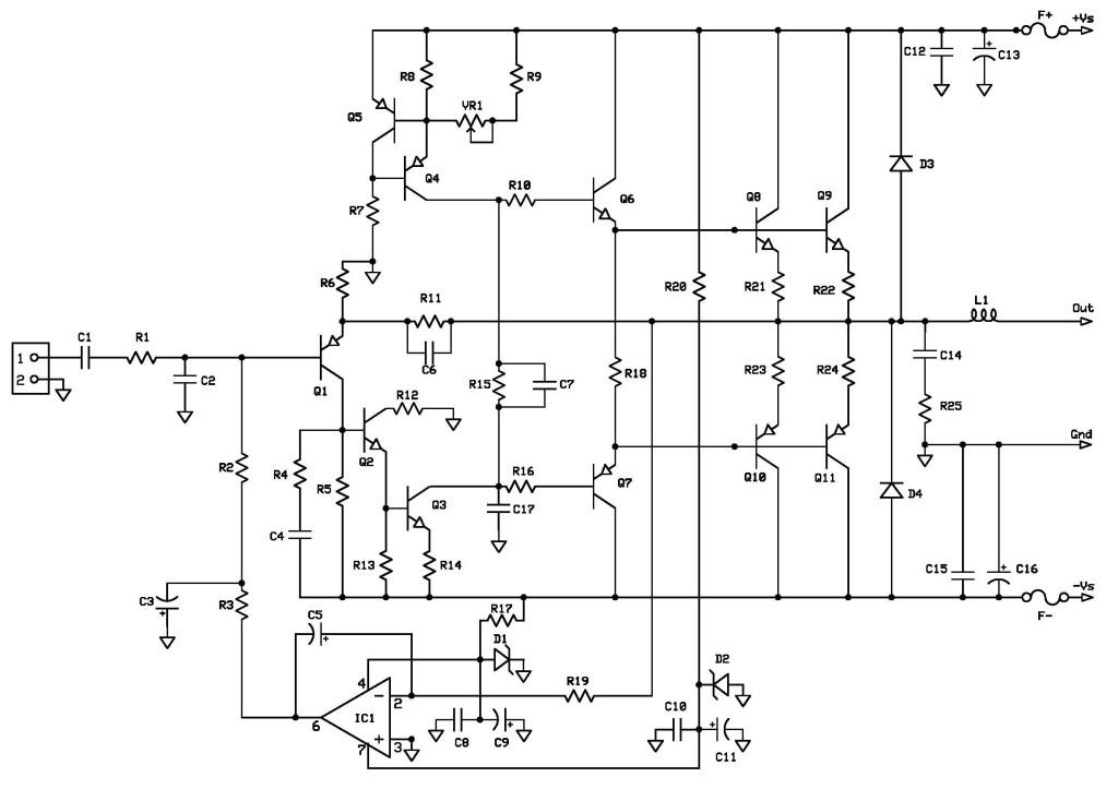dc servo audio amplifier schematic