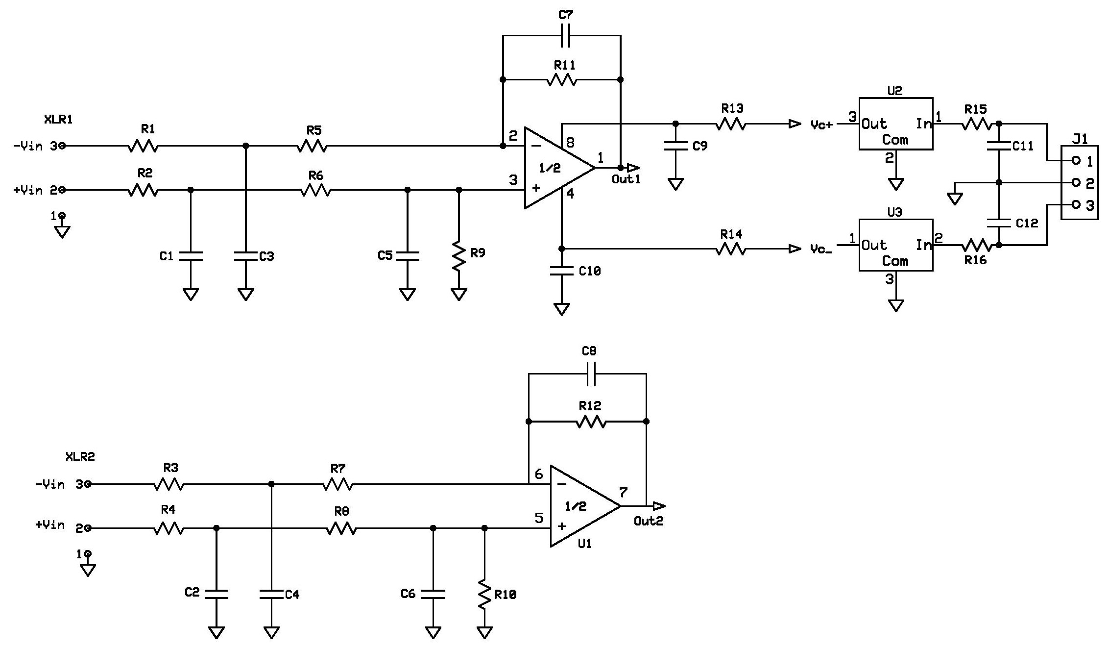 Xlr Amp Schematics Wiring Diagram To Trs Preamp2 Buildaudioamps Schematic Page 001