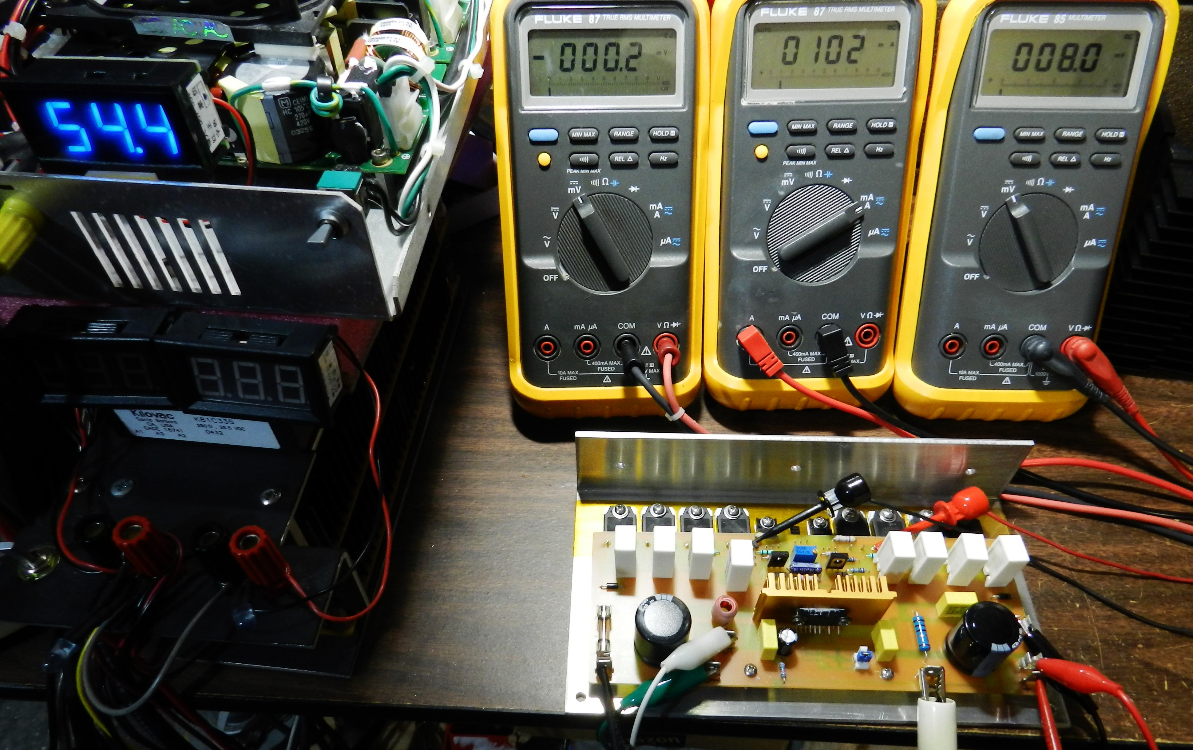 Project 15 Buildaudioamps Circuit Of Sziklai Pair Also The Gain S Is Dmm On Left Side Picture Reading 02mv Dc Offset Voltage Amplifier In Middle 102ma Current Drawn