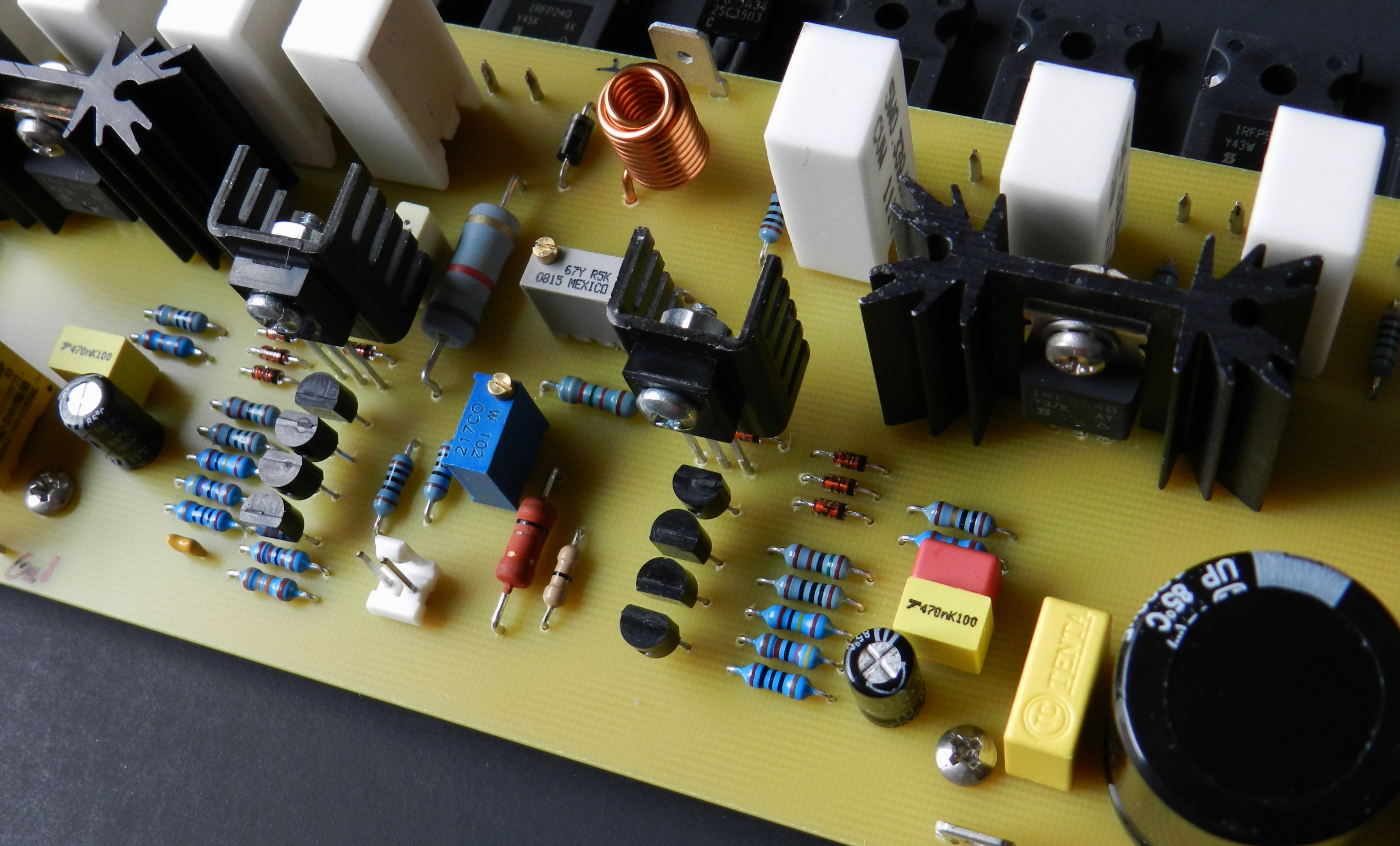 Project 50 Buildaudioamps On After Delay With Mosfet Electronic Projects Circuits Is A Version Of The Fully Symmetrical Complementary Current Feedback Amplifier Implemented Two Stage