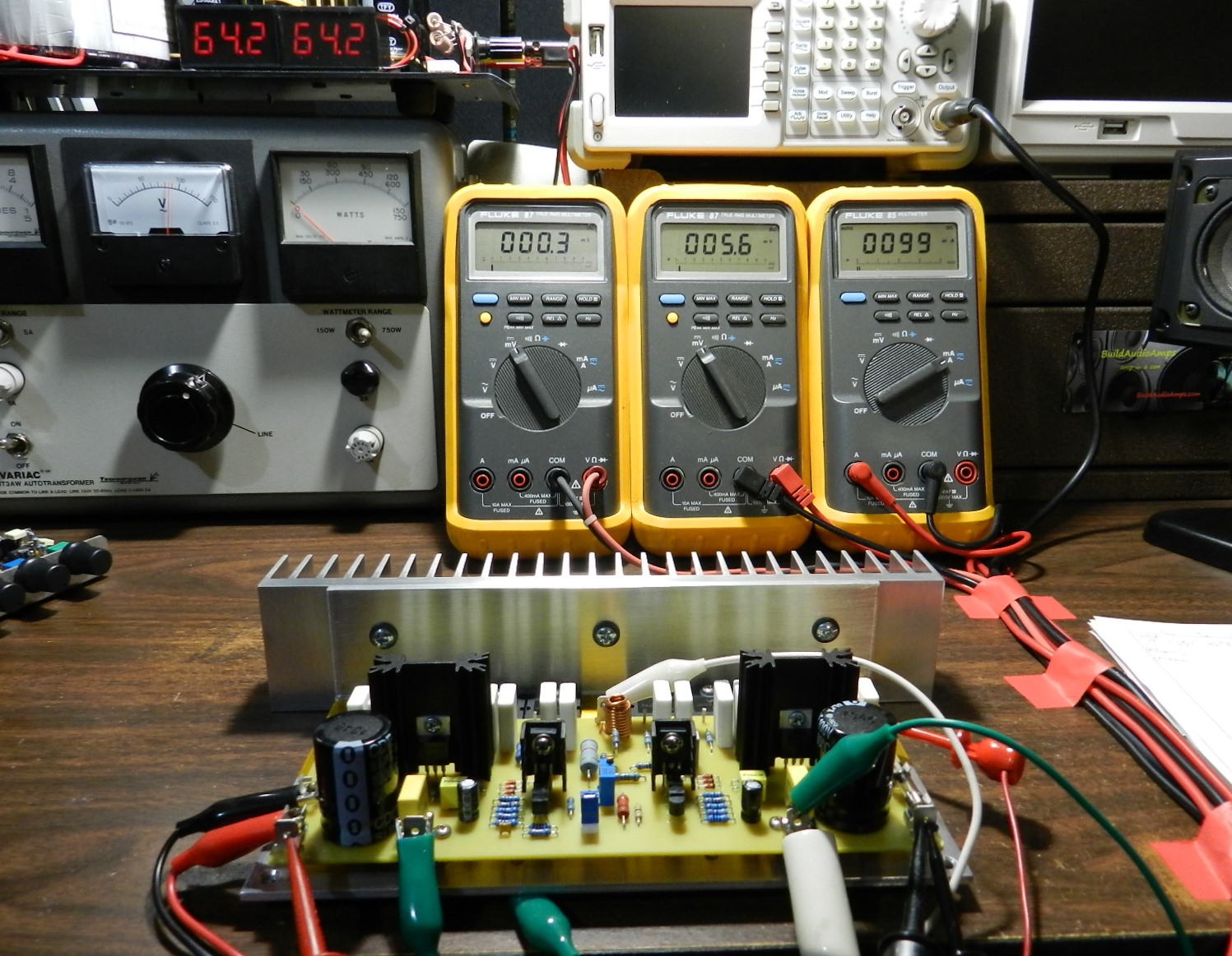 Project 57 Buildaudioamps Sziklai Pair With The Circuit Shown You Construct A Pnp Picture Above Is Initial Test Setup And Dmm Readings Of 57s Prototype Also In Are Two Digital Panel Voltmeters