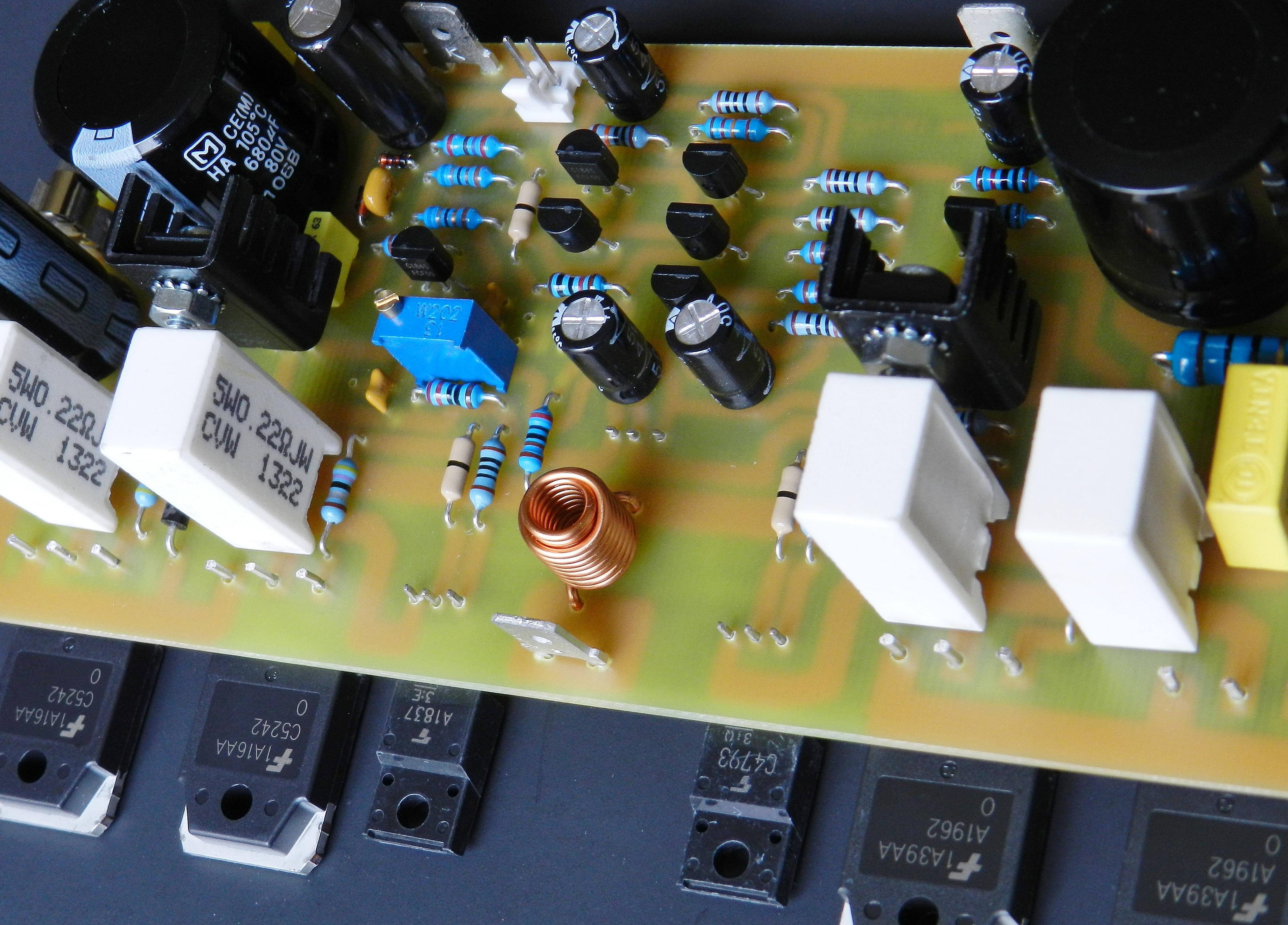 Project 61 Buildaudioamps Amplifier Circuit Construction Details Electronic Projects Is Based On Two Well Known Audio Power Designs The Blameless By Douglas Self And Audiophile G Randy Slone
