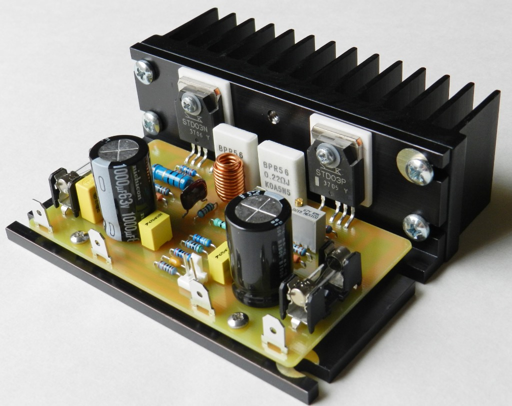 Buildaudioamps 25 Watt Power Amplifier Based Mosfet The Next One Is Another 100 Using An Analog Device Ada4700 1 Connected To A Complementary Pair Of Darlington Transistors From Sanken